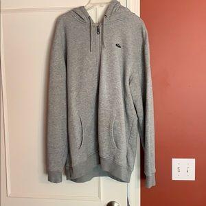 XL Nike grey hooded zip up sweatshirt